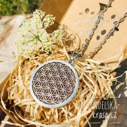 Květ života ocel náhrdelník