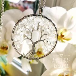 Náhrdelník Strom Života Křišťál