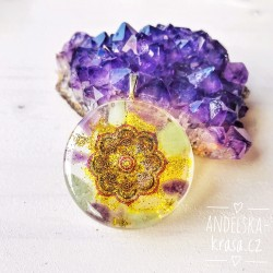 Orgonitový náhrdelník Mandala Sebedůvěry