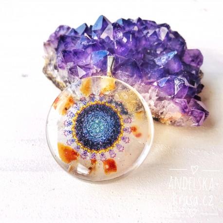 Orgonitový náhrdelník Mandala Odvahy