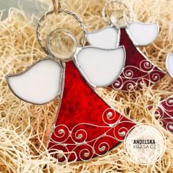 Anděl Vánoc vitráž