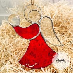Anděl světla Vánoční okenní vitráž