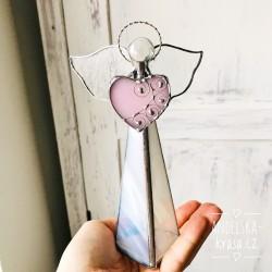 Anděl Lásky svícen vitráž velký 3