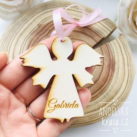 Andílek - závěsná dekorace - Vaše jméno